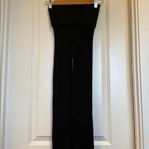 Black Fleece lined leggings. Wide waistband.